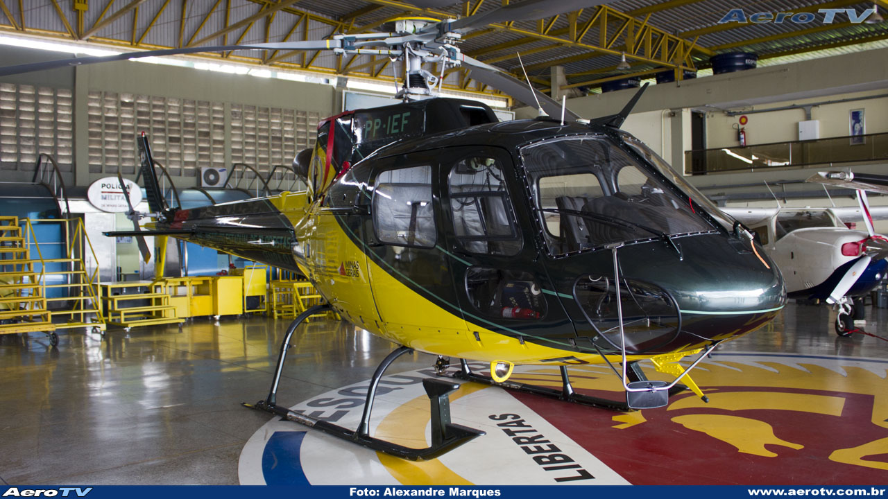 AeroTV - Helicóptero Helibras AS350 Esquilo PP IEF (Guará 01) do IEF