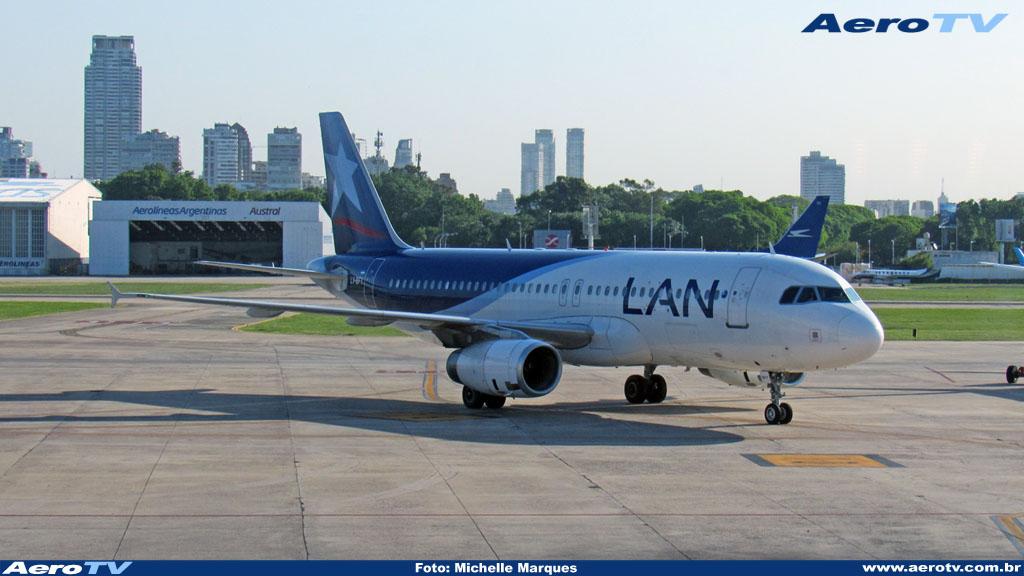 AeroTV - Airbus A320  LV BFY da Lan Argentina no Aeroparque