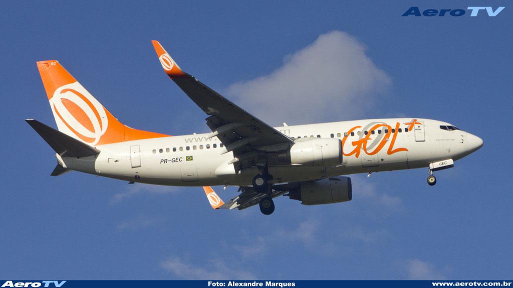 AeroTV - Boeing 737 da Gol matrícula PR GEC