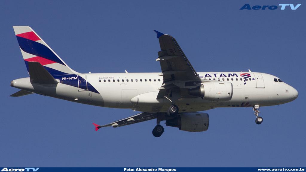 AeroTV - Airbus A319 da Tam matrícula PR MYM