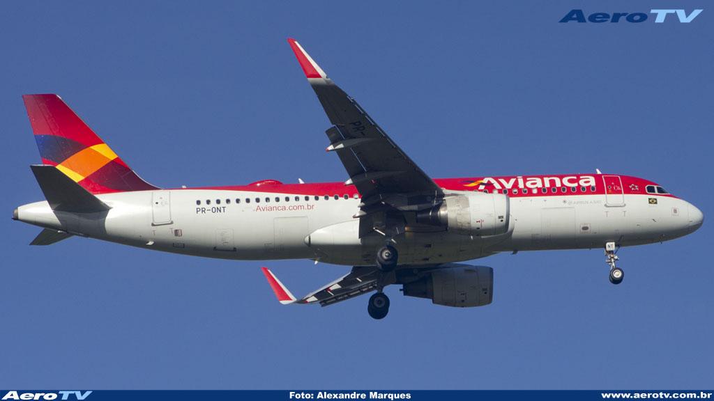 AeroTV - Airbus A320 da Avianca matrícula PR ONT