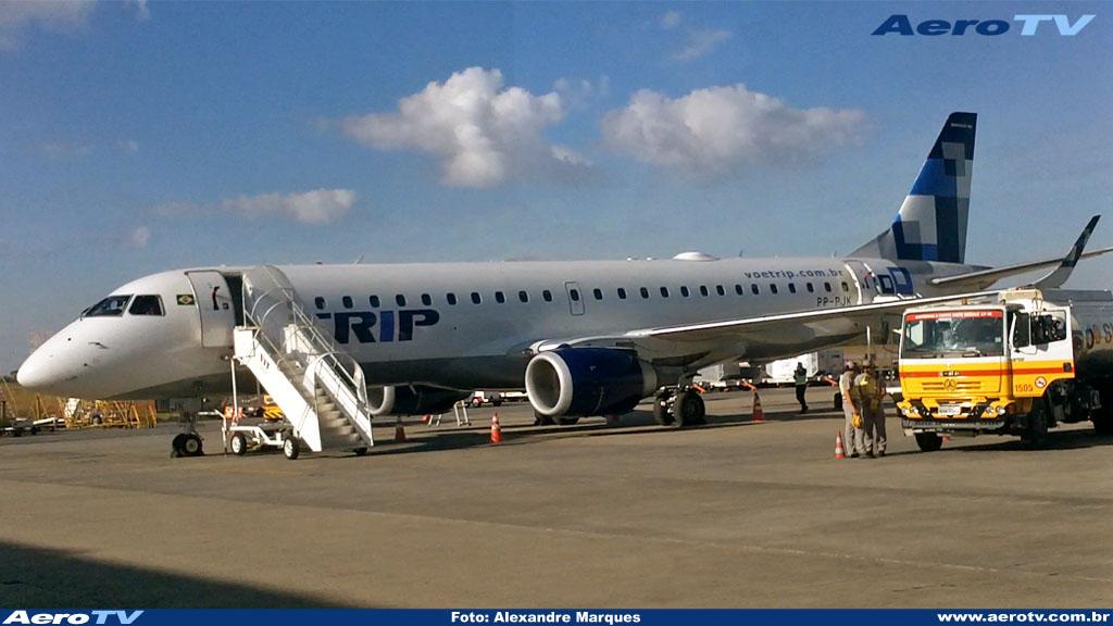 AeroTV - Embraer ERJ 190 da Trip matrícula PP PJM