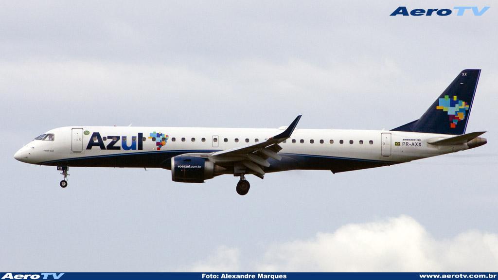 AeroTV - Embraer ERJ 195AR da Azul matrícula PR AXX