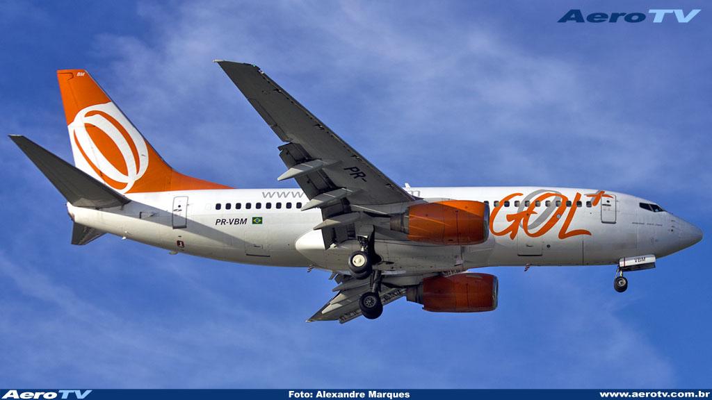 AeroTV - Boeing 737 da Gol matrícula PR VBM