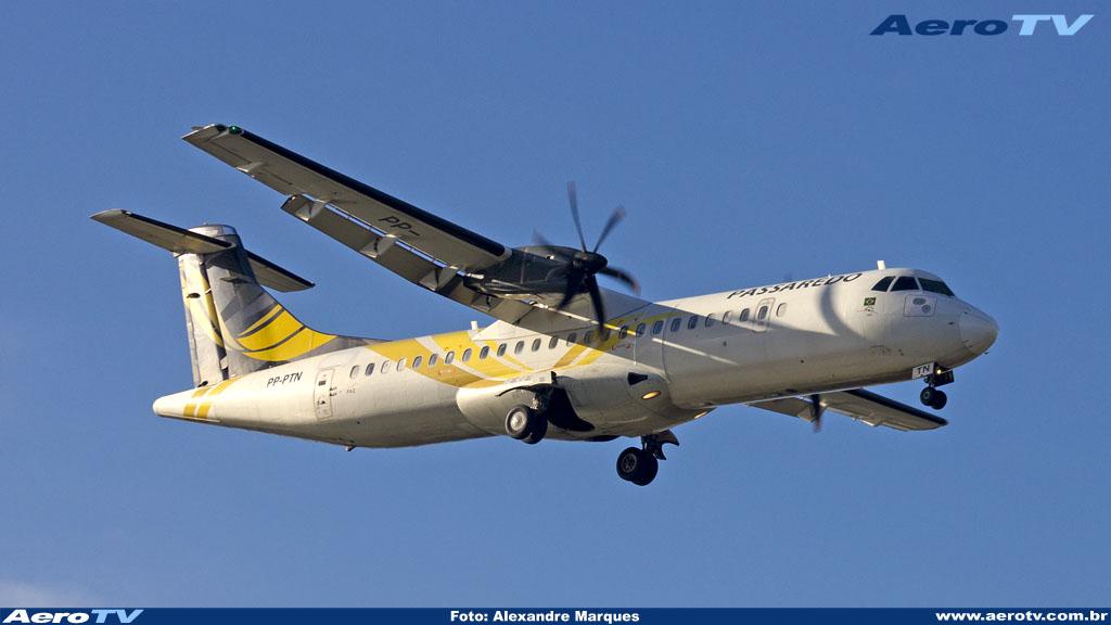 AeroTV - ATR 72 500 da Passaredo matrícula PP PTN