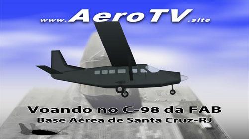 Voando no C-98 da FAB