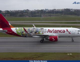 AeroTv - Avianca Airbus A320 214(WL) PR OCN Turma da Mônica