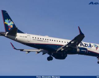 AeroTv - Embraer 195 da Azul matrícula PR AZI
