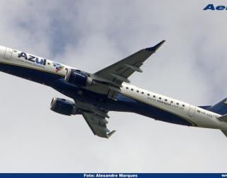 AeroTv - Embraer ERJ 195AR da Azul matrícula PR AXG