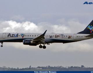 AeroTv - Embraer ERJ 195AR da Azul matrícula PR AYR
