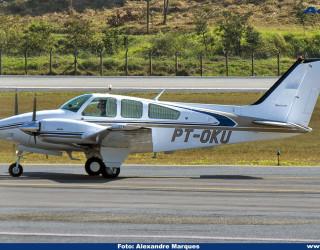 AeroTv - Beechcraft 55 Baron matrícula PT OKU