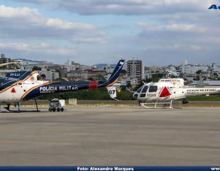 AeroTv - Helicópteros Helibrás HB 350B2 Esquilo da Polícia Militar de Minas Gerais