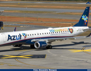 AeroTv - Embraer 195 PR-AUH da Azul