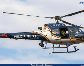 AeroTv - Helicóptero Esquilo PP EJN da PMMG