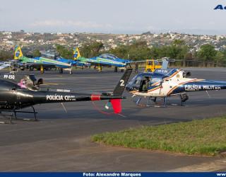 AeroTv - Helicópteros Esquilo PP ESQ da Civil e PP EJN da PMMG