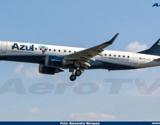 AeroTv - Embraer 190 da Azul PR-AZG